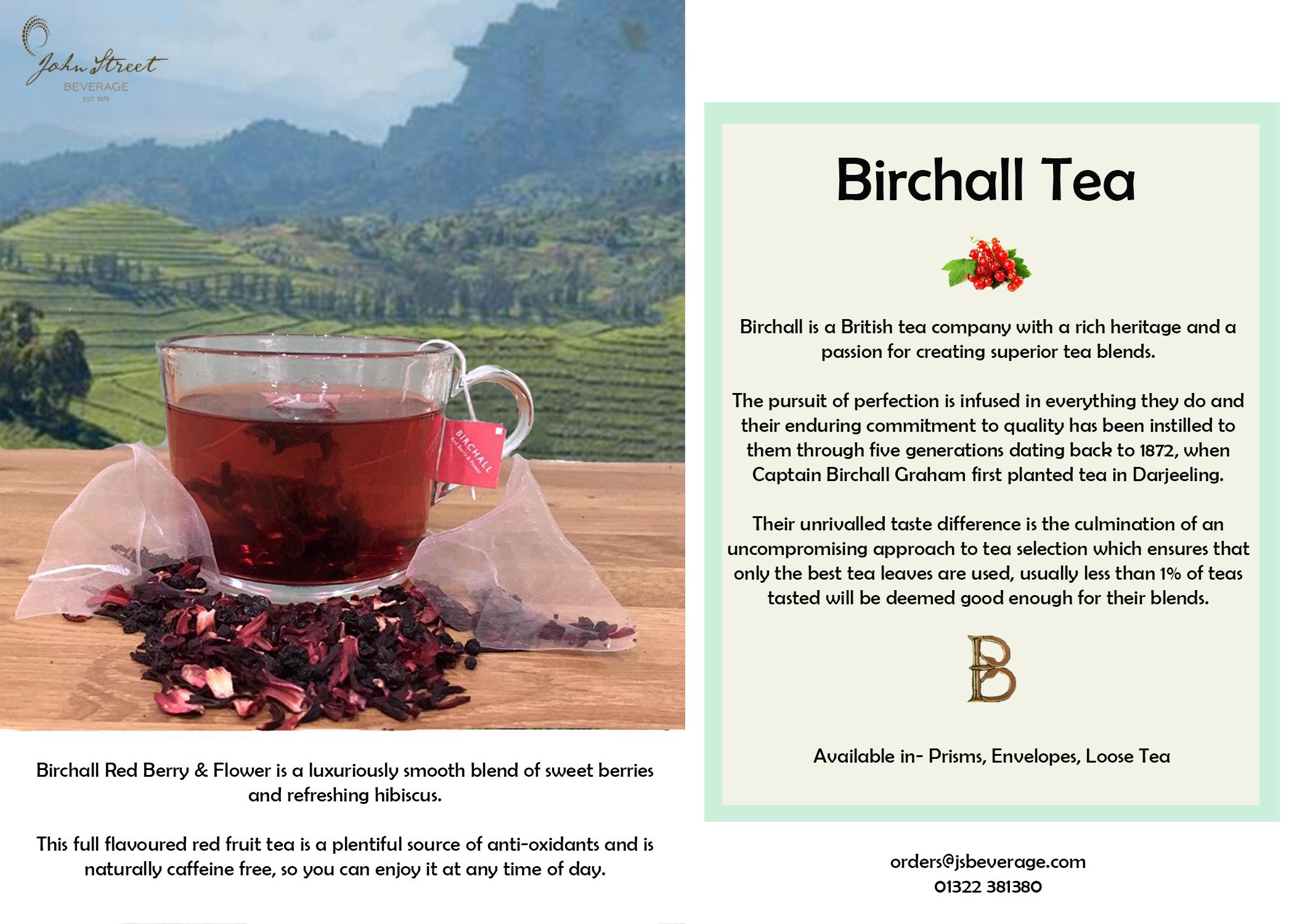 Birchall Red Berry & Flower