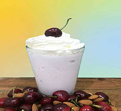 Cherry and Almond Frappe