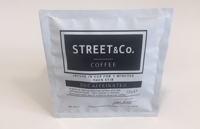 Street and co decaff coffee bag